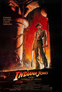 "Indiana Jones and the Temple of Doom (Paramount, 1984). Rolled, Very Fine. One Sheet (27"" X 41"") Style A, Bruc..."