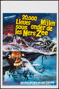 "20,000 Leagues Under the Sea (Elan, R-1970s). Rolled, Very Fine/Near Mint. Belgian (14"" X 21.25""). Science Fic..."