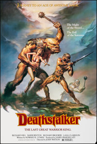 """Deathstalker & Other Lot (New World, 1983). Rolled, Very Fine-. One Sheets (2) (26.5"""" X 39.5"""" & 26&quo..."""