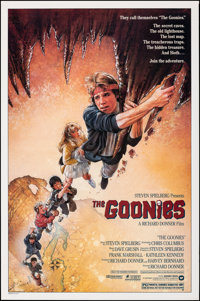 "The Goonies (Warner Bros., 1985). Rolled, Very Fine/Near Mint. One Sheet (27"" X 41""). Drew Struzan Artwork. Ad..."