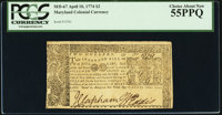 Maryland April 10, 1774 $2 PCGS Choice About New 55PPQ