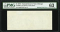 Error Notes:Blank Reverse (100%), Missing Back Printing Error Fr. 1908-G $1 1974 Federal Reserve Note. PMG Choice Uncirculated 63.. ...
