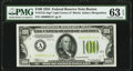 Low Serial Number 214 Fr. 2152-A* $100 1934 Light Green Seal Federal Reserve Note. PMG Choice Uncirculated 63 EPQ