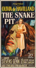 "Movie Posters:Drama, The Snake Pit (20th Century Fox, 1948). Folded, Fine+. Three Sheet (41"" X 79"") Style B. Drama.. ..."