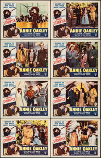 "Annie Oakley (RKO, R-1952). Overall: Very Fine-. Lobby Card Set of 8 (11"" X 14""). Western. ... (Total: 8 Items..."