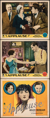 "Applause (Paramount, 1929). Very Fine-. Title Lobby Card & Lobby Cards (2) (11"" X 14""). Drama. ... (Total:..."