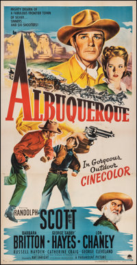 "Albuquerque (Paramount, 1948). Very Fine- on Linen. Three Sheet (41"" X 80""). Western"