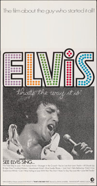 """That's the Way It Is (MGM, 1971). Folded, Very Fine. Three Sheet (41"""" X 79""""). Elvis Presley"""