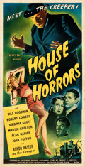Movie Posters:Horror, House of Horrors (Universal, 1946). Very Fine on Linen.