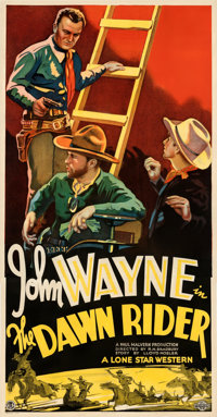 "The Dawn Rider (Monogram, 1935). Fine/Very Fine on Linen. Three Sheet (41.5"" X 79"")"