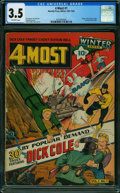 Golden Age (1938-1955):Superhero, 4Most V1#1 (Novelty Press, 1942) CGC VG- 3.5 Off-white pages.