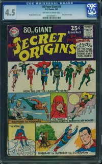 80 Page Giant 8 Secret Origins (DC, 1965) CGC VG+ 4.5 Off-white to white pages