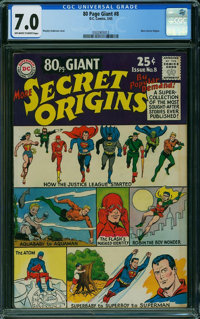 80 Page Giant 8 Secret Origins (DC, 1965) CGC FN/VF 7.0 Off-white to white pages