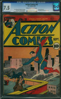 Golden Age (1938-1955):Superhero, Action Comics #28 (DC, 1940) CGC VF- 7.5 Cream to off-white pages.