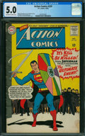 Silver Age (1956-1969):Superhero, Action Comics #329 (DC, 1965) CGC VG/FN 5.0 OFF-WHITE TO WHITE pages.