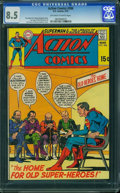 Bronze Age (1970-1979):Superhero, Action Comics #386 (DC, 1970) CGC VF+ 8.5 Off-white to white pages.