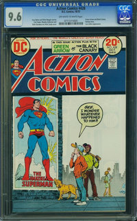 Action Comics #428 (DC, 1973) CGC NM+ 9.6 Off-white to white pages