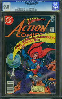 Action Comics #478 (DC, 1977) CGC NM/MT 9.8 Off-white to white pages