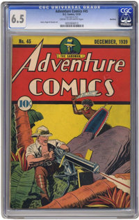 Adventure Comics #45 - Rockford (DC, 1939) CGC FN+ 6.5 Cream to off-white pages