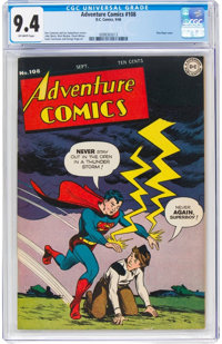 Adventure Comics #108 (DC, 1946) CGC NM 9.4 Off-white pages