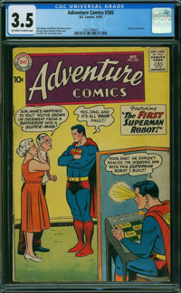 Adventure Comics #265 (DC, 1959) CGC VG- 3.5 Off-white to white pages