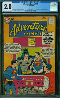 Adventure Comics #275 (DC, 1960) CGC GD 2.0 Cream to off-white pages