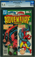 Modern Age (1980-Present):Superhero, Adventure Comics #471 (DC, 1980) CGC NM 9.4 Off-white to white pages.