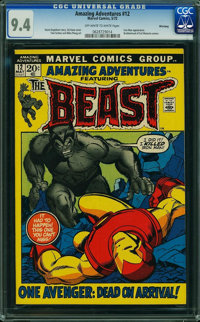 Amazing Adventures #12 - WINNIPEG PEDIGREE (Marvel, 1972) CGC NM 9.4 Off-white to white pages