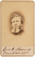 Photography:CDVs, George H. Thomas Signed Carte de Visite....