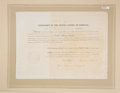 """Autographs:U.S. Presidents, Abraham Lincoln Appointment Signed """"Abraham Lincoln."""