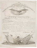 """Autographs:U.S. Presidents, Franklin Pierce Military Appointment Signed """"Franklin P..."""
