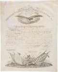 "Autographs:U.S. Presidents, James K. Polk Military Appointment Signed ""James K Polk..."