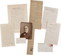 Autographs:Military Figures, William T. Sherman Autograph Letters Signed and Assorted Ephemera....