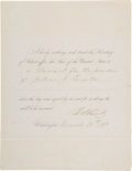 "Autographs:Military Figures, Ulysses S. Grant Affix-the-Seal Document Signed ""U.S. ..."