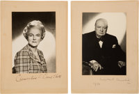 Winston Churchill Photograph Signed... (Total: 2)