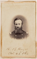 Photography:CDVs, Rutherford B. Hayes Signed Carte de Visite