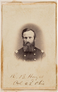 Rutherford B. Hayes Signed Carte de Visite