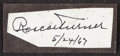 Autographs:Others, Roscoe Turner Signed Cut. ...