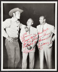 """Autographs:Photos, Gene Autry Signed Photographs On """"The Rifleman"""" Set, Lot of 2.... (Total: 2 items)"""