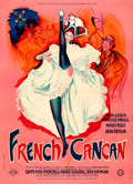 Movie Posters:Musical, French Cancan (Gaumont, 1955). Very Fine- on Linen.