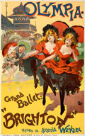 Movie Posters:Miscellaneous, Brighton at the Olympia (c. 1894). Fine/Very Fine on Linen...