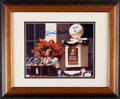 Autographs:Photos, 1974 Mickey Mantle Signed Hall of Fame Induction Speech Ph...