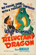 """Movie Posters:Animation, The Reluctant Dragon (RKO, 1941). Fine+ on Linen. One Sheet (27"""" X 41""""). Glenn Cravath Artwork. Animation. . ..."""