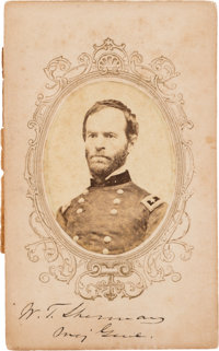 William T. Sherman Carte de Visite Signed