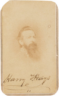 Harry Hays Signed Carte de Visite