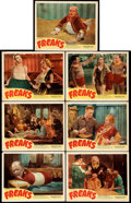 "Movie Posters:Horror, Freaks (Excelsior, R-1949). Fine/Very Fine. Lobby Cards (7) (11"" X 14"").. ..."