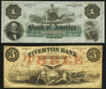 Obsoletes By State:Rhode Island, Providence, RI- Bank of America $1 18__ Remainder Choice Crisp Uncirculated;. Tiverton, RI- Tiverton Bank $3 June 1,... (Total: 2 notes)