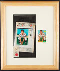 Autographs:Baseballs, 1961 Topps Dick Howser Final Pre-Printing of Rookie Card. ...