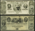 Obsoletes By State:New Hampshire, Portsmouth, NH- Piscataqua Exchange Bank $5 18__; $20 18__ Remainders Crisp Uncirculated.. ... (Total: 2 notes)