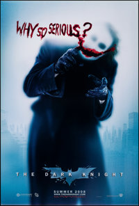 "The Dark Knight (Warner Bros., 2008). Rolled, Very Fine/Near Mint. One Sheet (27"" X 40"") DS, Advance, ""Wh..."